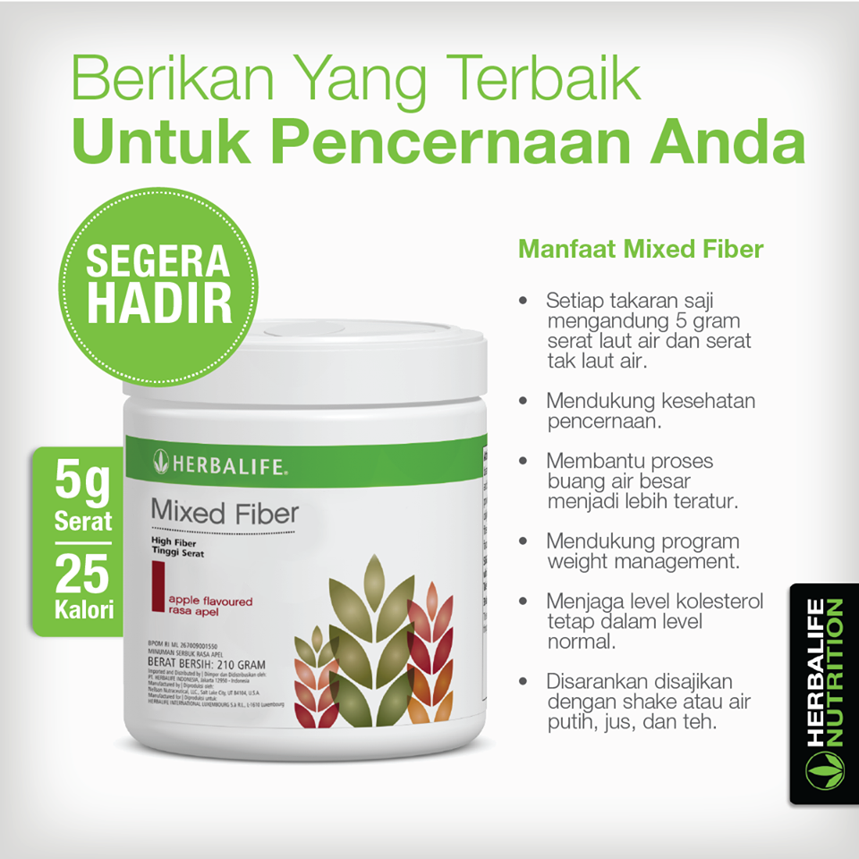 Manfaat Mixed Fiber Herbalife